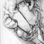 Pencil sketches in theatre by Philip Garrett