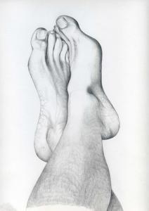 Foot study in Pencil by Ellen Lever