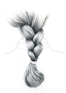 Hair study by Ellen Lever